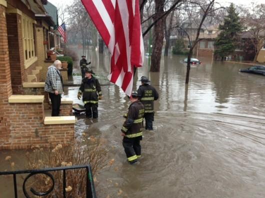 Chicago, USA - Powódź po ulewnych deszczach 2