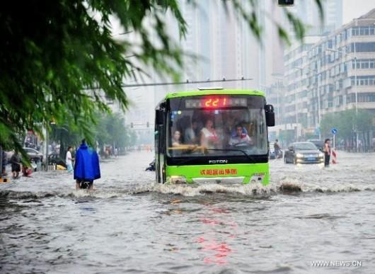 Chiny - Powódź w prowincji Liaoning 3