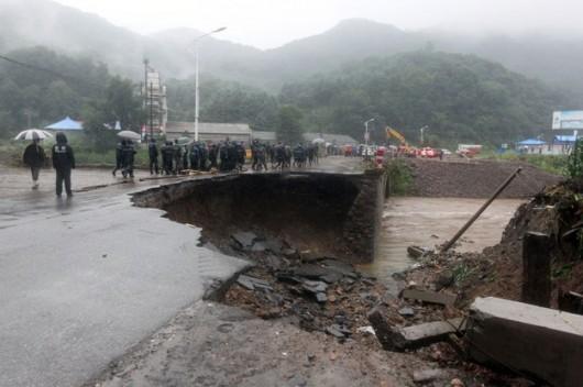 Chiny - Powódź w prowincji Liaoning 5