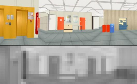 Grafika porównująca postrzeganie, obraz tzw. rzeczywisty i jak widzi go CURVACE