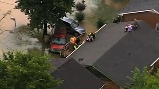 USA - Powódź w Tennessee