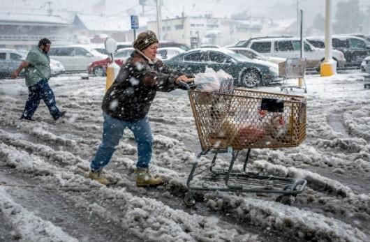 USA - Śnieg w Wyoming 1