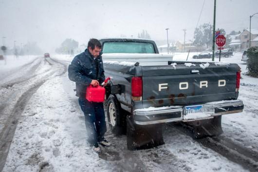 USA - Śnieg w Wyoming 3