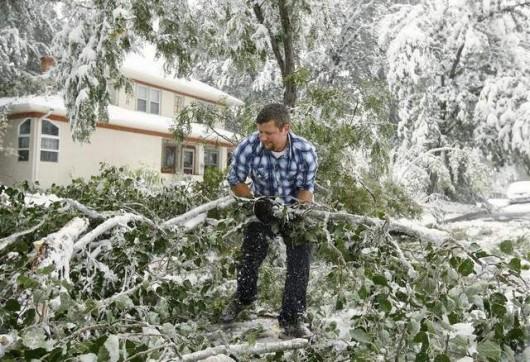 USA - Śnieg w Wyoming 4
