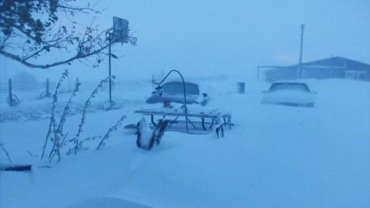 USA - Śnieg w Wyoming 5