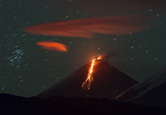 Wulkan Kluczewska Sopka - Rosja