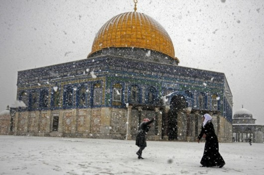Jerozolima - Śnieg
