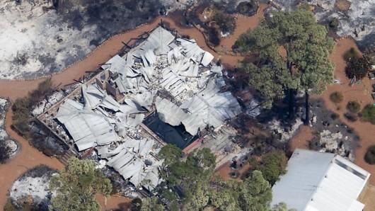 Australia - Pożary lasów na przedmieściach Perth 3