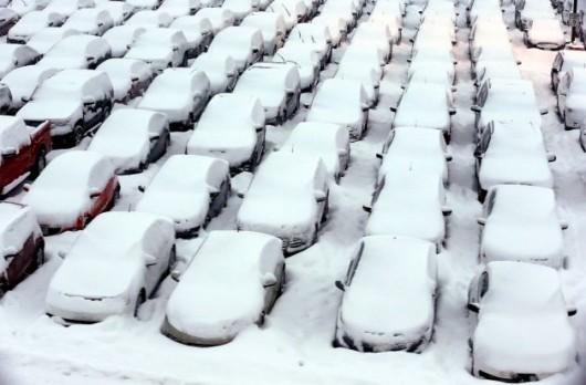 USA - Duże opady śniegu w krótkim czasie - Chicago 2