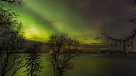 Norwegia - Zorza nad Trondheim