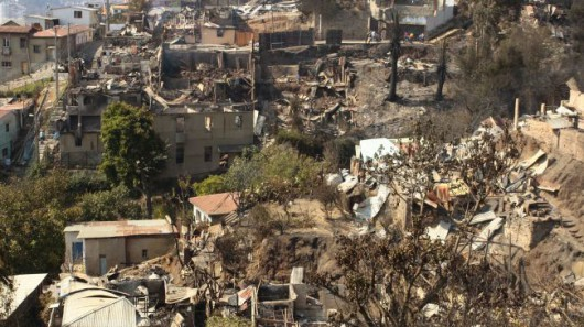 Chile - Pożar w Valparaiso 1