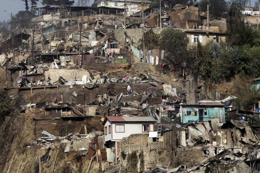 Chile - Pożar w Valparaiso 2
