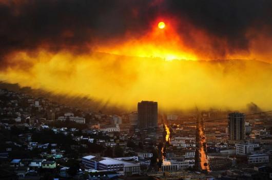 Chile - Pożar w Valparaiso 3