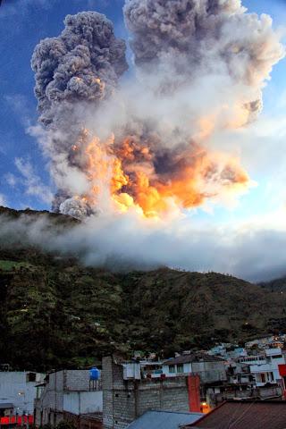 Ekwador - Erupcja wulkanu Tungurahua 2
