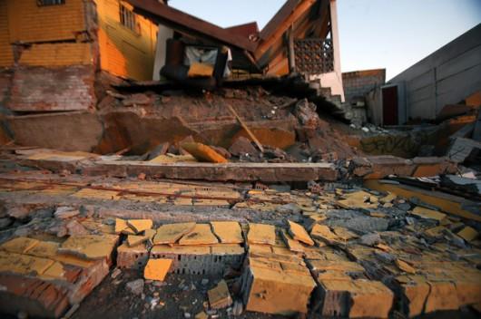 Gruzowisko w Iquique po trzęsieniu ziemi z 1 kwietnia