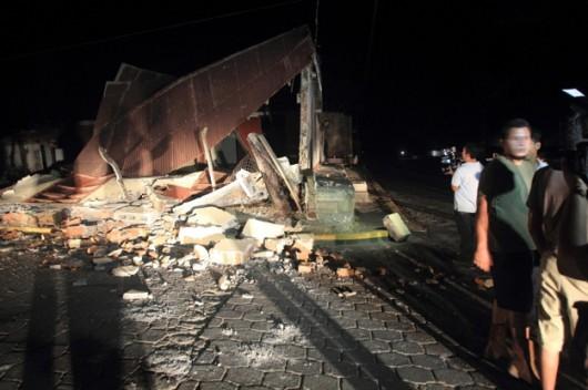 Nikaragua - Dom zniszczony przez czwartkowe wstrząsy