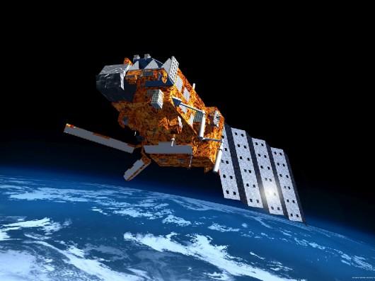 Nowoczesny satelita, wizja artystyczna