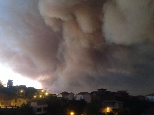 Pożar w Valparaiso w Chile 1