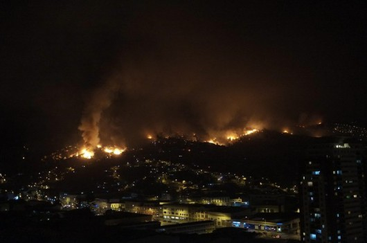 Pożar w Valparaiso w Chile 3