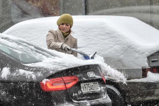 Rosja - Do Moskwy wróciła zima 1