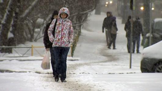 Rosja - Do Moskwy wróciła zima