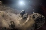 Rozpadajaca się asteroida