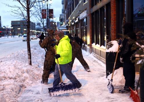 USA - Śnieg w Detroit 1