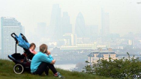 Zanieczyszczenie powietrza w Londynie - UK