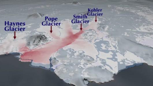 Antarktyda - Rozpada się lodowiec, zachodnia część topnieje z nieznanym dotąd tempie