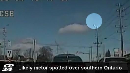 Kanada - Meteoroid uderzył w Ziemię