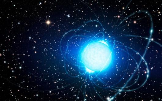 Magnetar w gromadzie gwiazd Westerlund 1.