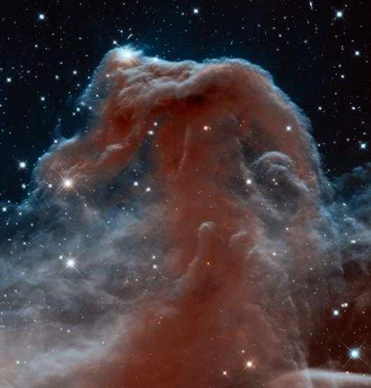 Mgławica Koński Łeb w podczerwieni