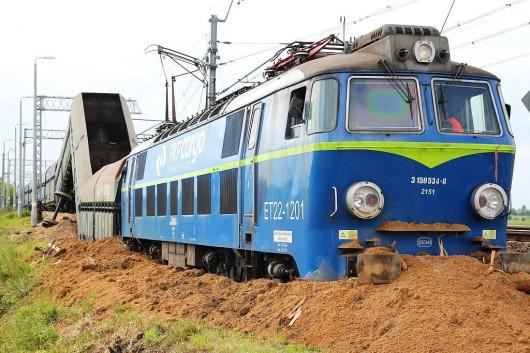 Polska - Wykoleił się pociąg towarowy 1