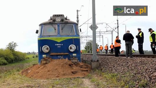 Polska - Wykoleił się pociąg towarowy 2