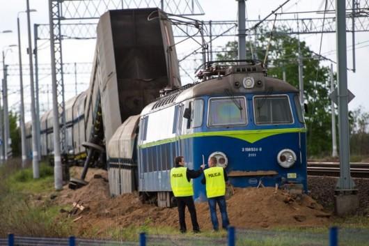 Polska - Wykoleił się pociąg towarowy 4