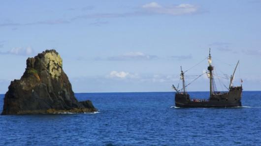 Replika karaki Santa Maria u wybrzeży Madery