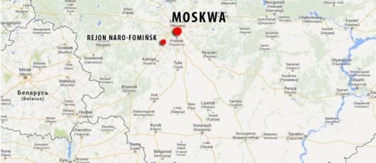 Do zderzenia doszło około 70 km od Moskwy