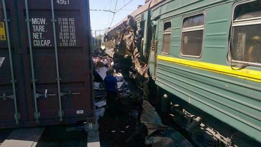 Rosja - Pod Moskwą zderzyły się pociągi 1