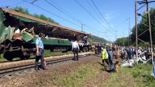 Rosja - Pod Moskwą zderzyły się pociągi 3
