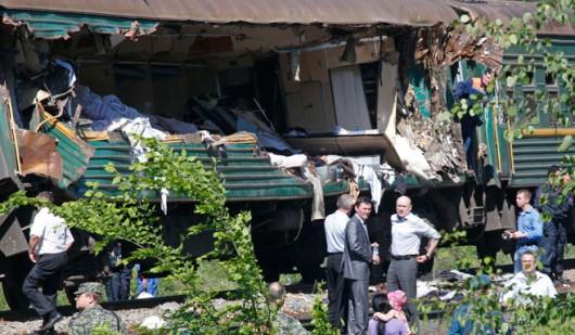 Rosja - Pod Moskwą zderzyły się pociągi