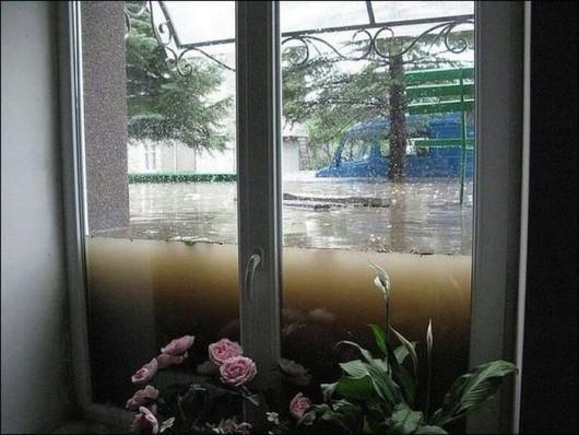 Rosja - Ulewny deszcz w Smoleńsku 1