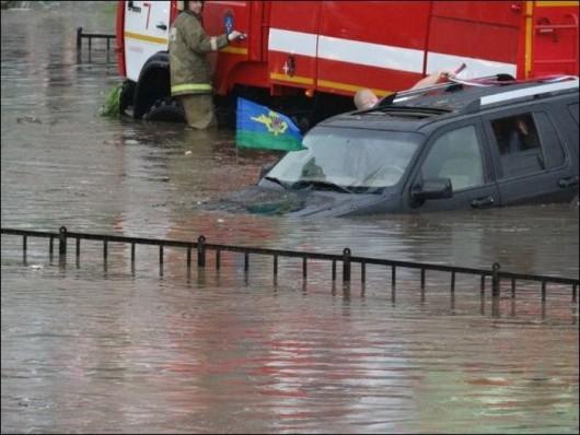 Rosja - Ulewny deszcz w Smoleńsku 2