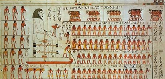 Rysunek na podstawie malowidła w grobowcu Djehutihotepa