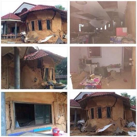 Tajlandia - Zniszczenia