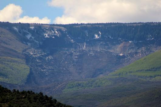 USA - Ogromne osuwisko w Kolorado, 6 km długie i 3 km szerokie