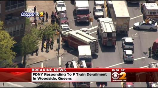 USA - W Queens wykoleiło się metro 4