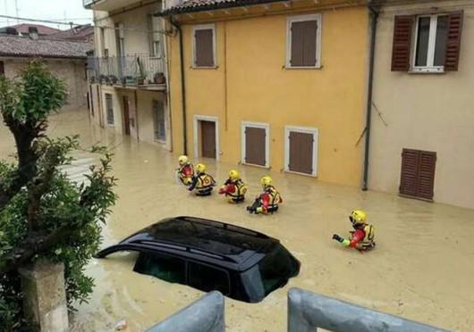 Włochy - Powódź