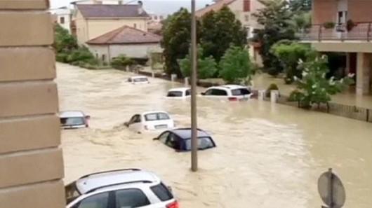 Włochy - Powódź4