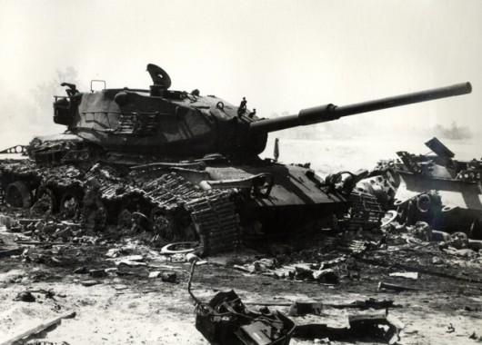 W początkowych dniach wojny Yom Kippur Izrael był blisko klęski i istniała pokusa użycia broni jądrowej, źródło: CIA