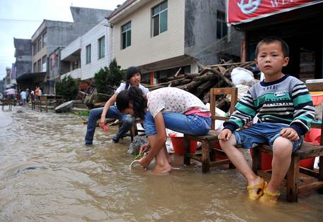 Chiny - Silne opady deszczu w Tianjin 1
